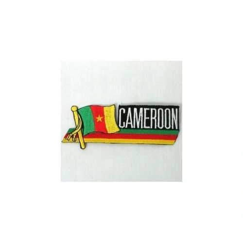 CAMEROON SIDEKICK WORD COUNTRY FLAG IRON ON PATCH CREST BADGE