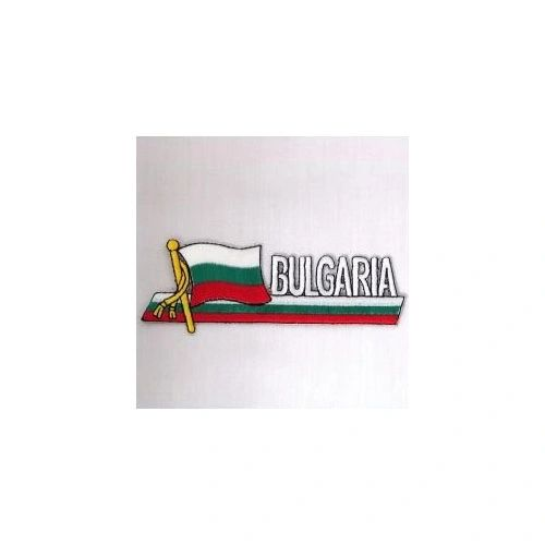 BULGARIA SIDEKICK WORD COUNTRY FLAG IRON ON PATCH CREST BADGE