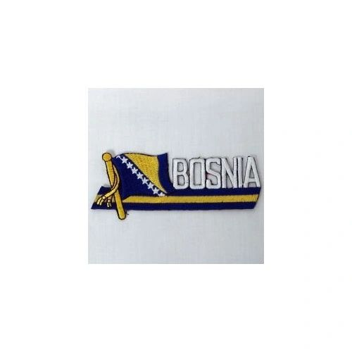 BOSNIA NEW SIDEKICK WORD COUNTRY FLAG IRON ON PATCH CREST BADGE