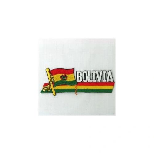 BOLIVIA SIDEKICK WORD COUNTRY FLAG IRON ON PATCH CREST BADGE