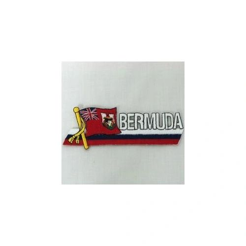 BERMUDA SIDEKICK WORD COUNTRY FLAG IRON ON PATCH CREST BADGE