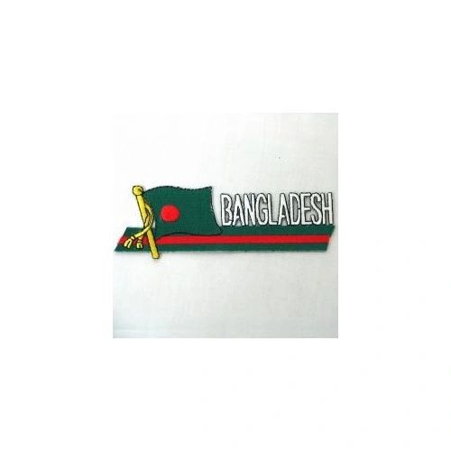 BANGLADESH SIDEKICK WORD COUNTRY FLAG IRON ON PATCH CREST BADGE