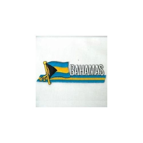 BAHAMAS SIDEKICK WORD COUNTRY FLAG IRON ON PATCH CREST BADGE