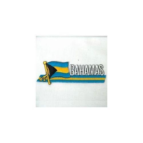 BAHAMAS SIDEKICK WORD COUNTRY FLAG IRON ON PATCH CREST BADGE