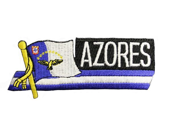AZORES SIDEKICK WORD COUNTRY FLAG IRON ON PATCH CREST BADGE