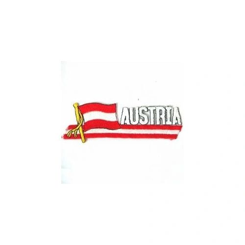 AUSTRIA SIDEKICK WORD COUNTRY FLAG IRON ON PATCH CREST BADGE