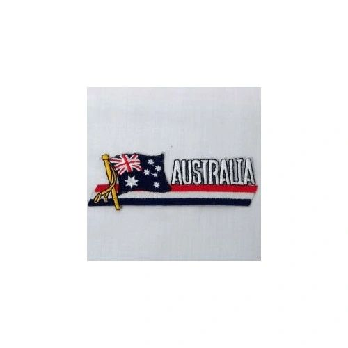 AUSTRALIA SIDEKICK WORD COUNTRY FLAG IRON ON PATCH CREST BADGE
