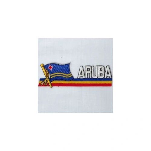 ARUBA SIDEKICK WORD COUNTRY FLAG IRON ON PATCH CREST BADGE