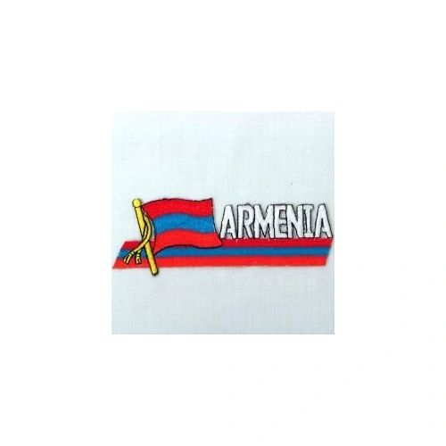 ARMENIA SIDEKICK WORD COUNTRY FLAG IRON ON PATCH CREST BADGE