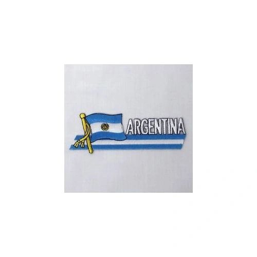 ARGENTINA SIDEKICK WORD COUNTRY FLAG IRON ON PATCH CREST BADGE