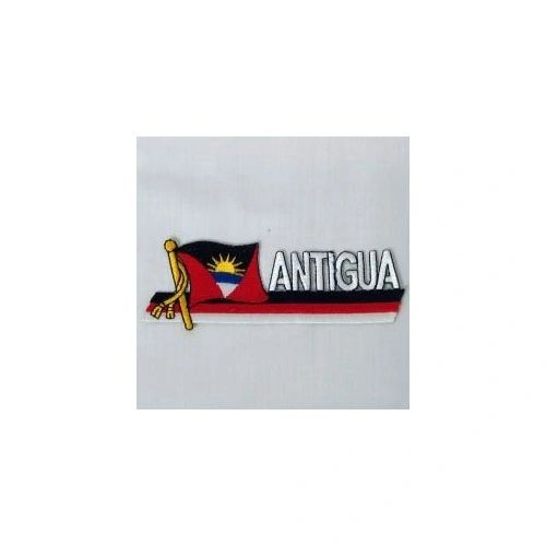 ANTIGUA & BARBUDA SIDEKICK WORD COUNTRY FLAG IRON ON PATCH CREST BADGE