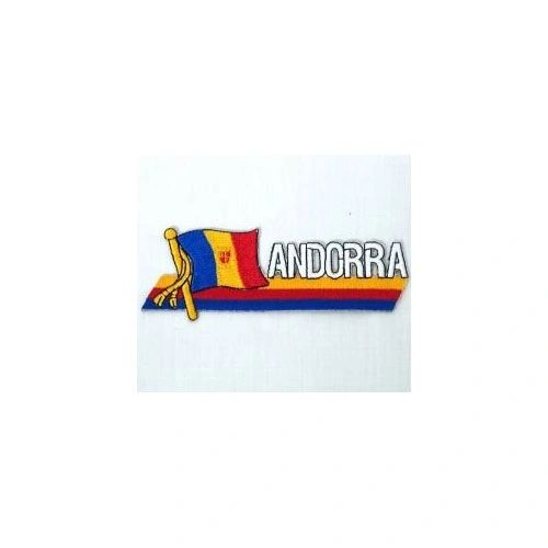 ANDORRA SIDEKICK WORD COUNTRY FLAG IRON ON PATCH CREST BADGE