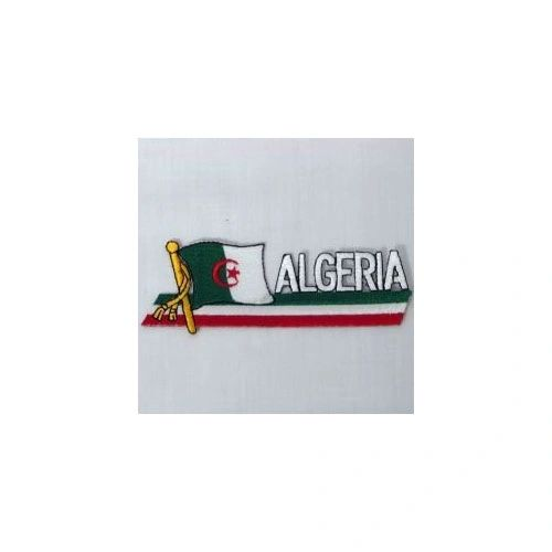 ALGERIA SIDEKICK WORD COUNTRY FLAG IRON ON PATCH CREST BADGE