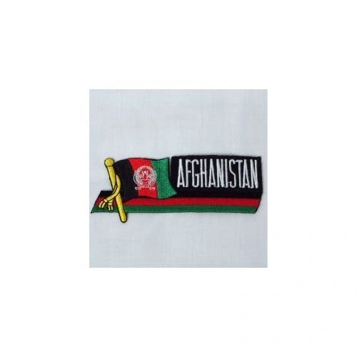 AFGHANISTAN SIDEKICK WORD COUNTRY FLAG IRON ON PATCH CREST BADGE