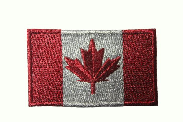 CANADA Country Flag REFLECTIVE IRON ON PATCH CREST BADGE