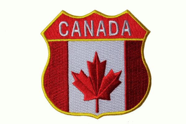 NEWFOUNDLAND /& LABRADOR SHIELD CANADA PROVINCIAL FLAG IRON-ON PATCH CREST BADGE