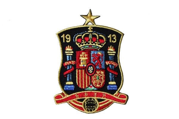 """SPAIN 1913 With STAR FIFA SOCCER WORLD CUP EMBROIDERED IRON ON PATCH CREST BADGE .. SIZE : 2 3/8"""" x 3 3/8"""" INCH"""