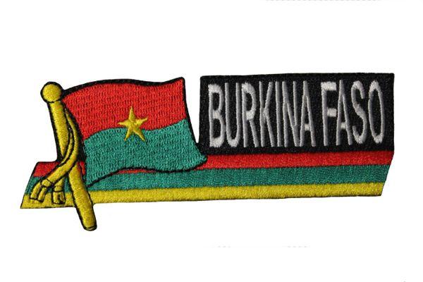 BURKINA FASO SIDEKICK WORD Country Flag IRON ON PATCH CREST BADGE