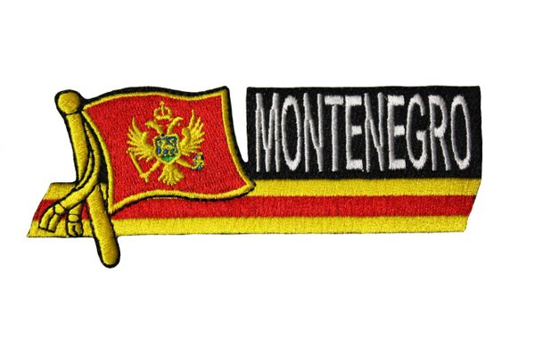 MONTENEGRO SIDEKICK WORD Country Flag IRON ON PATCH CREST BADGE