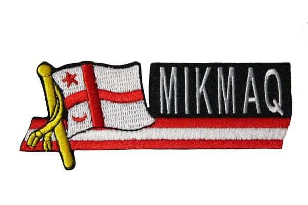 MIKMAQ SIDEKICK WORD Council Native Flag IRON ON PATCH CREST BADGE