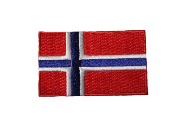 NORWAY Country Flag IRON ON PATCH CREST BADGE