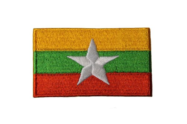 MYANMAR Country Flag IRON ON PATCH CREST BADGE