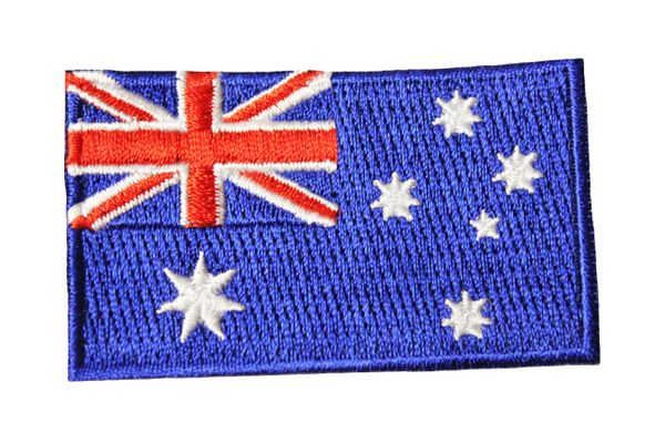 "AUSTRALIA Country Flag Iron On PATCH CREST BADGE ...Size : 1.5"" X 2.5"" Inch"
