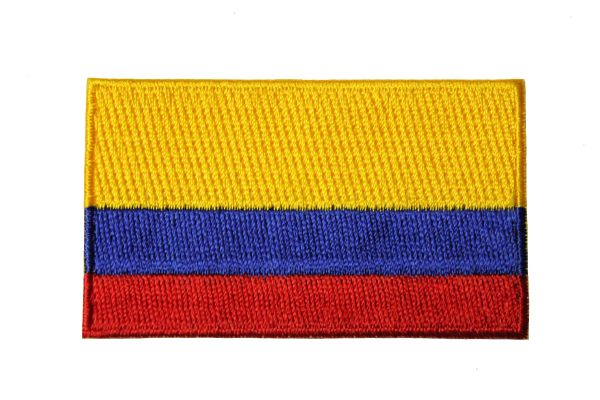 COLOMBIA NATIONAL COUNTRY FLAG IRON ON PATCH CREST BADGE ... 1.5 X 2.5 INCHES .. NEW