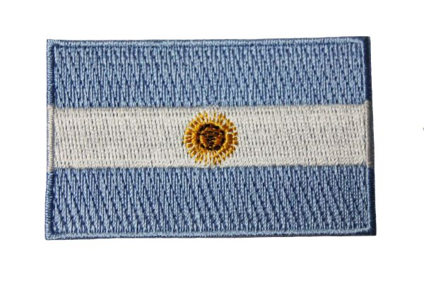 """ARGENTINA Country Flag Iron On PATCH CREST BADGE ..Size : 1.5"""" X 2.5"""" Inch.. New"""
