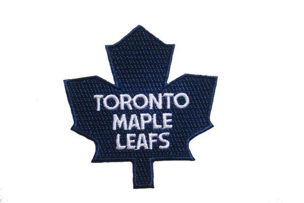 "TORONTO MAPLE LEAFS BLUE NHL ( OLD ) LOGO EMBROIDERED IRON ON PATCH CREST BADGE .. SIZE : 3.25"" x 3"" INCH"