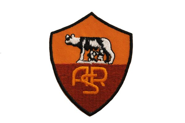 """ROMA FC Logo ( 2000 ) EMBROIDERED IRON ON PATCH CREST BADGE .. SIZE : 2.1"""" x 2.6"""" INCH"""