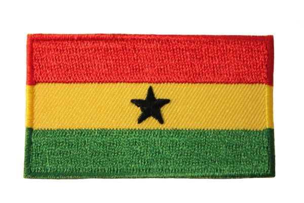 GHANA NATIONAL COUNTRY FLAG IRON ON PATCH CREST BADGE .. 1.5 X 2.5 INCHES .. NEW