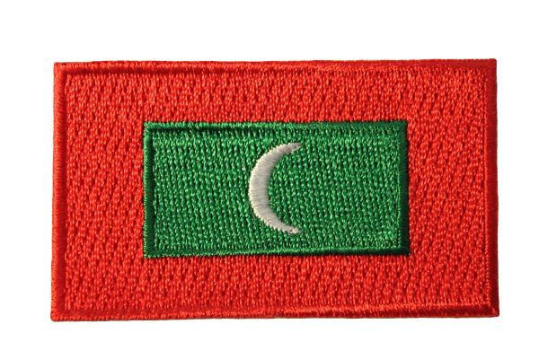 MALDIVES NATIONAL COUNTRY FLAG IRON ON PATCH