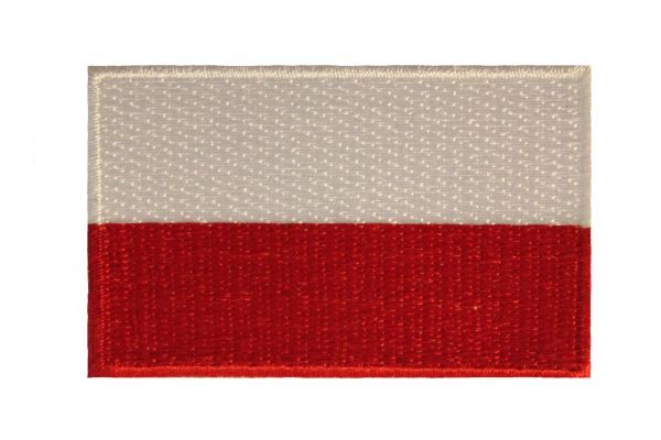POLAND (PLAIN) NATIONAL COUNTRY FLAG IRON ON PATCH