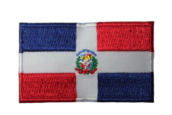 DOMINICAN REPUBLIC NATIONAL COUNTRY FLAG IRON ON PATCH