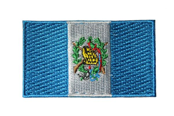 """GUATEMALA Country Flag Embroidered Iron on Patch Crest Badge.. Size : 2.5"""" x 1.5"""" Inch..New"""