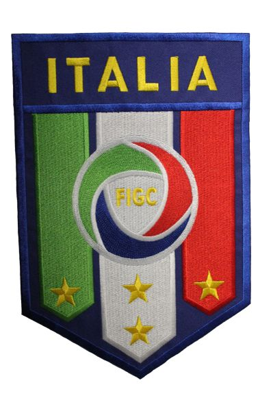 """Italia Italy FIGC Logo FIFA World Cup Iron-On Extra Large Patch Crest Badge 6 1/4"""" x 9 1/2"""" Inch (16 x 24 cm). New"""