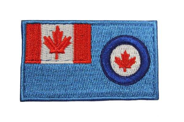 "Royal Canadian AIR Force Flag Embroidered Iron On Patch Crest Badge. Size : 1.5"" x 2.5"" Inch.New"
