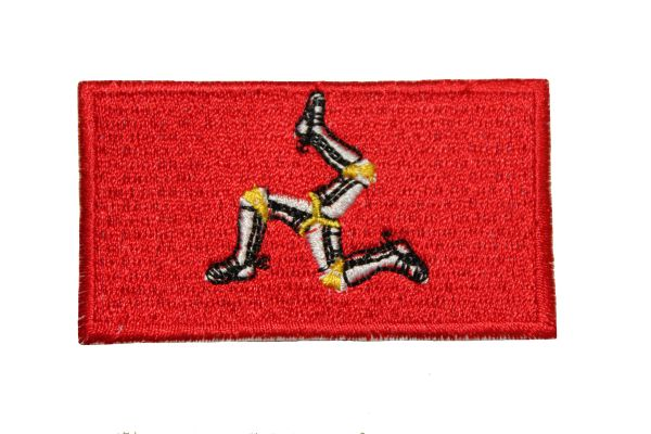 "ISLE of Man Country Flag Embroidered Iron on Patch Crest Badge. Size : 1.5"" x 2.5"" Inch.New"