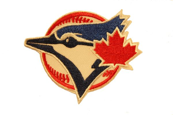 "TORONTO BLUE JAYS MLB Logo EMBROIDERED Iron - On PATCH CREST BADGE .. SIZE : 2.8"" x 2.5"" Inch"