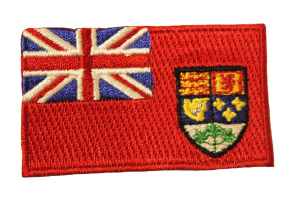 National Flag Of CANADA 1921 - 1957 , Iron - On PATCH CREST BADGE