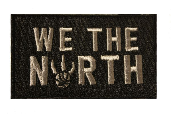 WE THE NORTH Small Embroidered Iron - On PATCH CREST BADGE