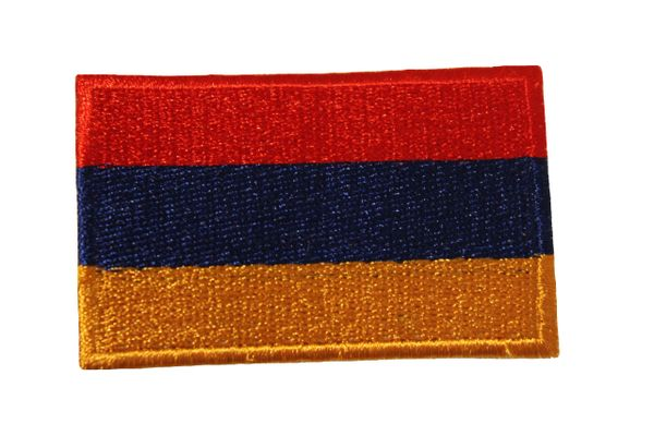 "ARMENIA Country Flag Iron On PATCH CREST BADGE ..Size : 1.5"" X 2.5"" Inch"