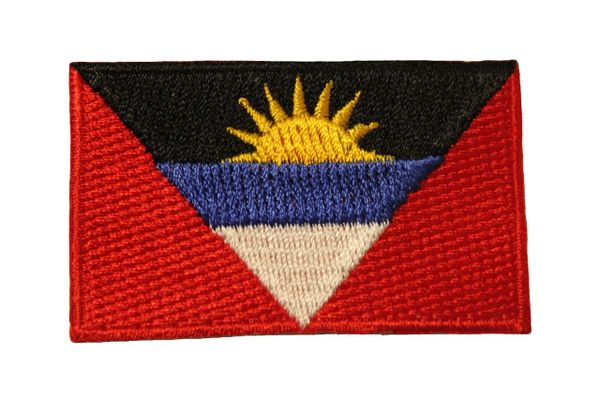 ANTIGUA & BARBUDA COUNTRY FLAG IRON ON PATCH CREST BADGE .. Size : 1.5 X 2.5 INCH