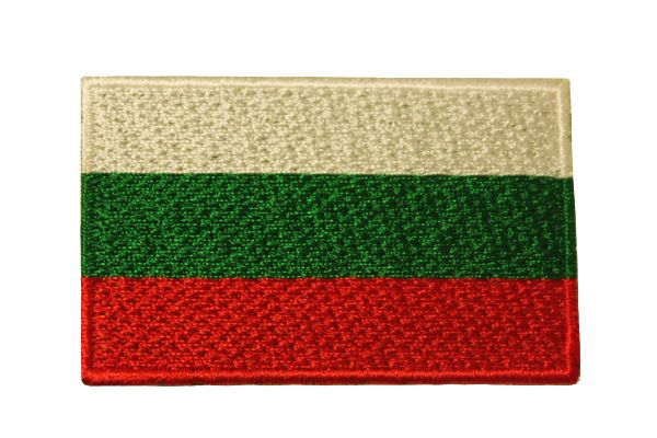BULGARIA COUNTRY FLAG IRON ON PATCH CREST BADGE ..Size : Size : 1.5 X 2.5 INCH