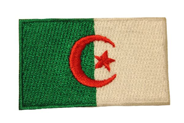 ALGERIA COUNTRY FLAG IRON ON PATCH CREST BADGE .. Size : 1.5 X 2.5 INCH