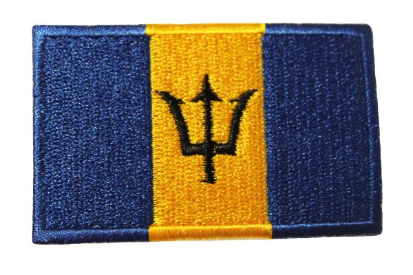 BARBADOS COUNTRY FLAG IRON ON PATCH CREST BADGE ..Size : 1.5 X 25 INCH