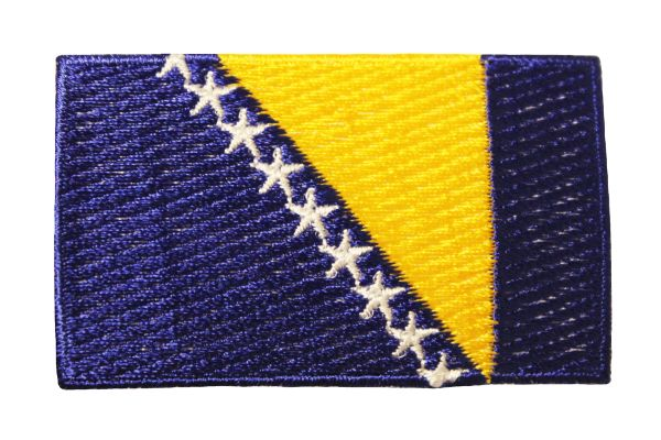 BOSNIA NEW COUNTRY FLAG IRON ON PATCH CREST BADGE ..Size : 1.5 X 2.5 INCH