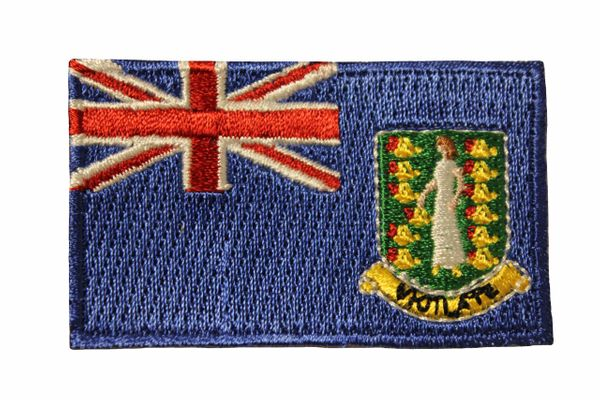 BRITISH VIRGIN ISLANDS COUNTRY FLAG IRON ON PATCH CREST BADGE ..Size : 1.5 X 2.5 INCH