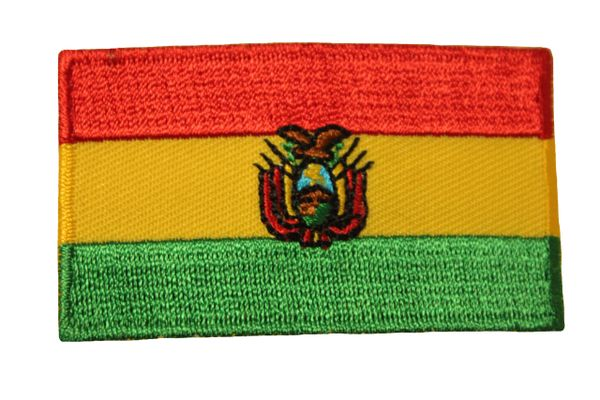 BOLIVIA COUNTRY FLAG IRON ON PATCH CREST BADGE .. Size : 1.5 X 2.5 INCH